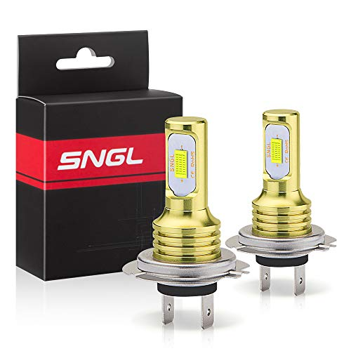 SNGL H7 LED Fog Light Bulb 6000k Xenon White Extremely Bright High Power H7LL H7 LED Bulbs for DRL or Fog Light Lamp Replacement