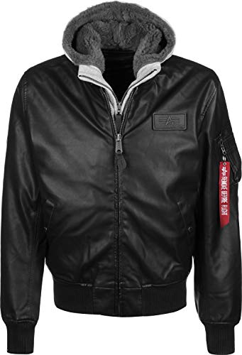 ALPHA INDUSTRIES Herren MA-1 D-Tec FL, Black/Grey, XL