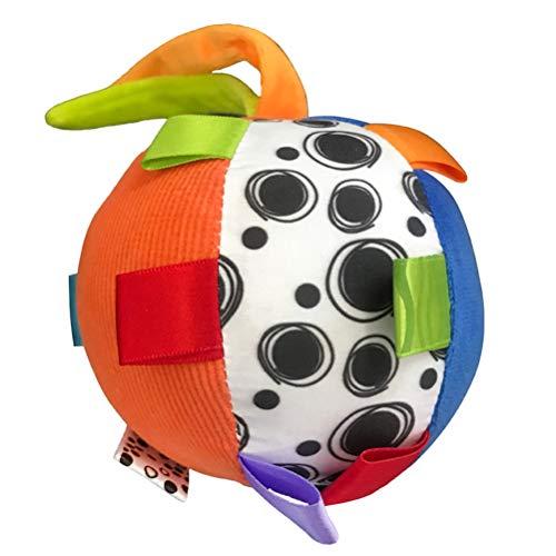 Creacom Plüsch Ring Glocke rassel Hand greifen Ball, Hand Ball Spielzeug für Baby plüsch Ring Glocke rassel Hand greifen Ball Bett hängen beschwichtigen Spielzeug Geschenk für Baby bunt