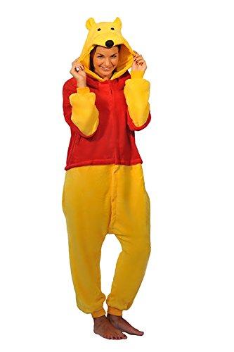 Winnie The Pooh Piglet Eeyore Donkey Esel Tigger Tiger Känguru Onesie Kigurumi Pyjama Karneval Kostüm Maskenkostüm Kapuzenpulli Schlafanzüge Winnie The Pooh, XL(Height 180cm-190cm)