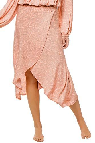 Beachgold Women's Wovens Wendy Wrap Midi-Skirt Swim Cover Up Hindi Blush L