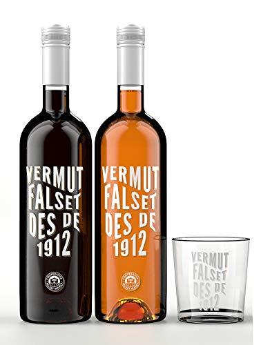 pack Vermut Falset des de 1912 + Vaso serigrafiado - Vermut Rojo...