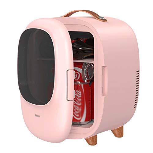BYZHP Mini Nevera Mini Refrigerador Mini Frigorífico 8L Pequeño refrigerador Pequeño refrigerador translúcido Más Calentador para Bebidas para Alimentos Coche de Cuidado de la Piel (Color : Pink)
