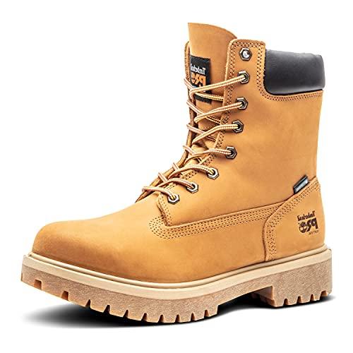 "Timberland PRO Men's Wheat 26011 Direct Attach 8"" Soft-Toe Boot,Yellow,10.5 W"