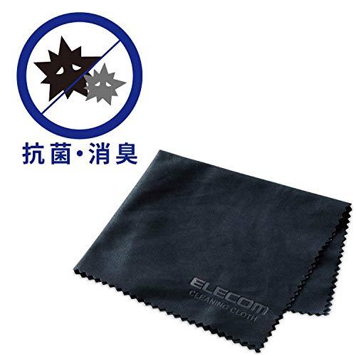 エレコム クリーニングクロス 抗菌・防臭タイプ ブラック KCT-009BKDE