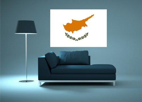 Kiwistar Wandtattoo Sticker Fahne Flagge Aufkleber Zypern 60 x 40cm
