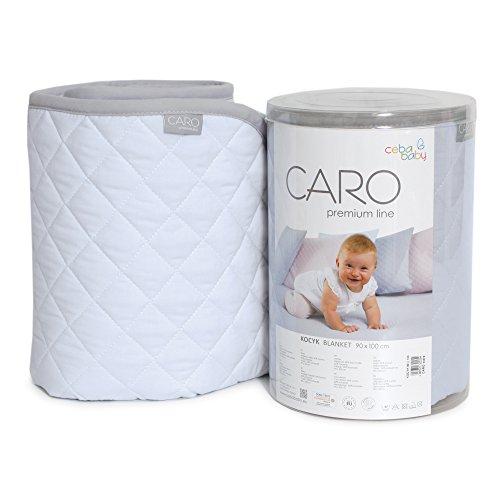 ceba Baby w-813 – 079 – 160 Blanket cher Blue, Mint, Blue, Grey, Pink