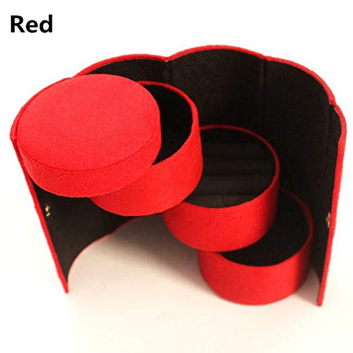 Kaned Faltzylinder Schmuckschatulle Tragbare Ohrring Halsketten Geschenk Aufbewahrungskoffer,Farbe 4