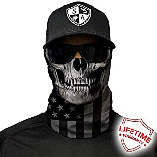 S A 1 Face Shield Blackout American Flag Skull Face Shields for Men and Face Shields for Women – UV Face Shield