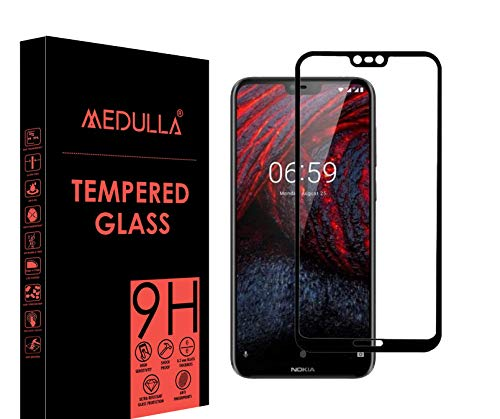 Medulla Edge to Edge (Black) 11D Tempered Glass Screen Protector for Nokia 6.1 Plus (Pack of 1)