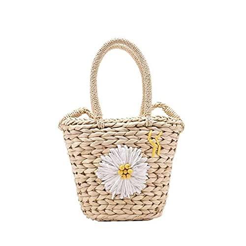 Bolso de mano de ratán informal de gran capacidad para mujer, bolsos de mano de diseñador de mimbre tejidos para mujer, bolsos de cesta de paja de verano para la playa