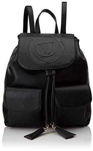 Trussardi Jeans Faith Backpack Tumbled Ecoleat, Zaino Donna, Nero (Black), 33x15x27 cm (W x H x L)