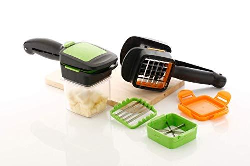 CBOX 5 in 1 Multi-Function Vegetable and Fruit Cutter Manual Vegetable and Fruit Quick Dicer Fruit Chopper Slicer Non-Skid Base Slicer and Chopper