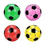 VOSAREA 4 pelotas de fútbol hinchables para niños, juguetes de fútbol, pelotas de playa, de colores, parque de juegos, mini fútbol, deportes, piscina, juegos para niños