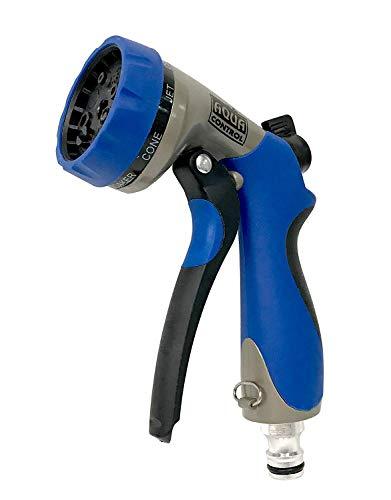 Aqua Control AMT42 - Pistola de Riego fabricada en Metal y Caucho. Con Regulación de Caudal y 7 Formas de Riego para adaptarse a todo tipo de plantas y terrenos