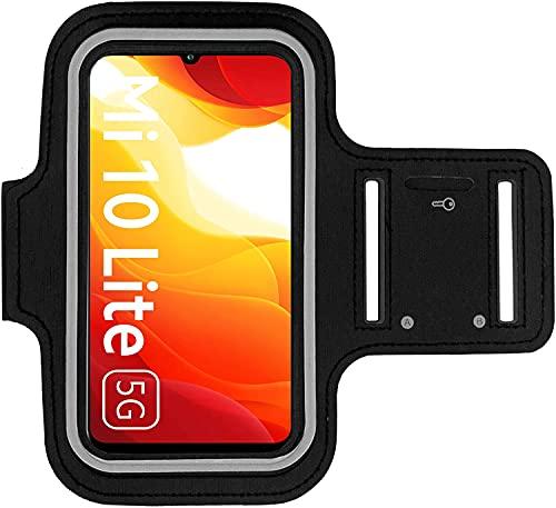 KP TECHNOLOGY Funda para brazalete Xiaomi Mi 10 Lite 5G, para correr, ciclismo, senderismo, piragüismo, caminar, montar a caballo y otros deportes para Xiaomi Mi 10 Lite 5G (NEGRO)
