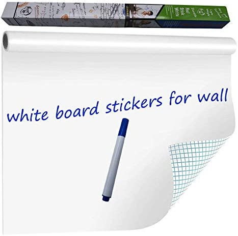 WISHAVE Large Dry Erase Whiteboard Sticker Wall Decal Self Adhesive White Board Sticker Vinyl product image