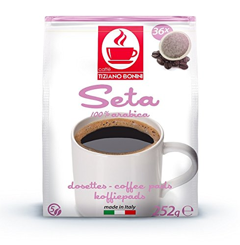 SENSEO Kaffeepads - Sorte:SETA - 180 Stück (5 Pack à 36 Pads) Kompatible Kaffeepads von Caffè Bonini Italien. Grundpreis Kaffeepulver pro 100g: 1,13€