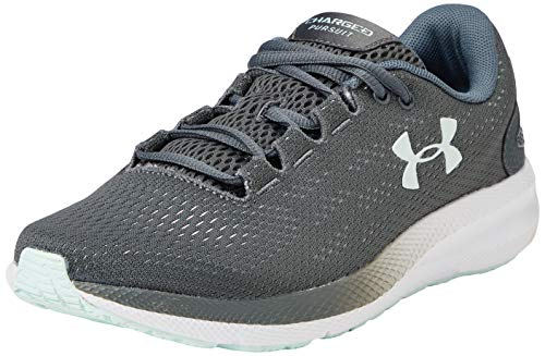 Under Armour Women's Charged Pursuit 2 Running Shoe, Gray, 7 M US