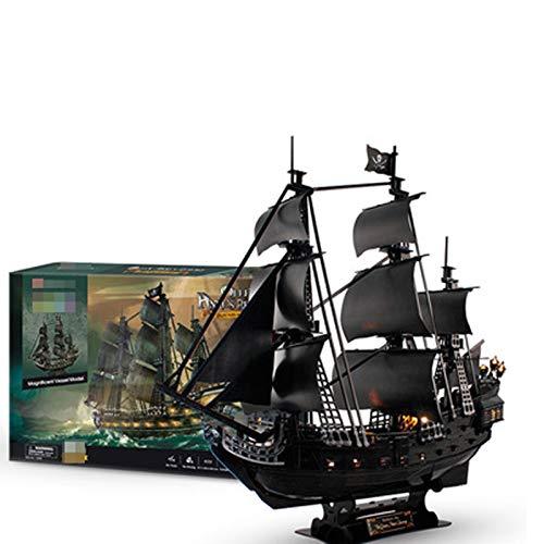 Rompecabezas 3D Kit De Modelo De Barco Pirata Y Velero Regalo De Construccin Muy Desafiante para Adultos Y Nios 340 Piezas