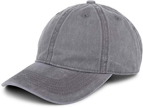styleBREAKER 6-Panel Vintage Cap im Washed Used Look, Basecap, Baseball Cap, verstellbar, Unisex 04023054, Farbe:Grau