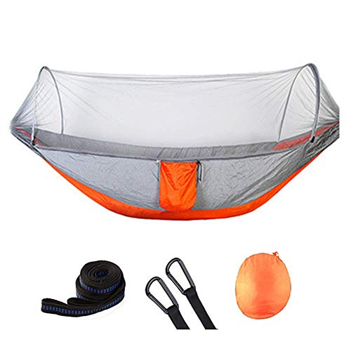 BD.Y Hamaca Ligera Acampar con mosquitero - Cama de Hamaca para Dormir con 2 Personas para Acampar Senderismo Mochilero, 300 kg de Capacidad de Carga, 250 * 120 cm