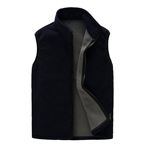 CIKRILAN Femme Veste Polaire sans Manches Chaud Confort Doux Bodywarmer Léger Full Zip Outdoor Gilet Polaire (Large, Noir)