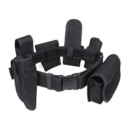 Modularer taktischer Gürtel aus robustem Nylon mit 7 verschiedenen Taschen