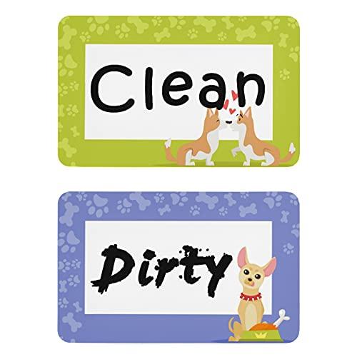 Naanle Shiba Inu - Imán para lavavajillas con forma de animal para perros, limpieza sucia, indicador, placa magnética, para cocina, hogar, oficina, lavadora, decoración
