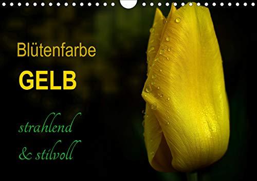 Blütenfarbe GELB (Wandkalender 2021 DIN A4 quer)