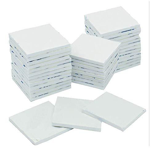 KAILEE 50 Stück Klebepads Doppelseitiges Extra Stark Klebeband Weiß Quadratisch Schaumstoff Pads für Wände und Boden,Tür, Kunststoffe, Gläser, Metalle, Spiegel 40x40mm