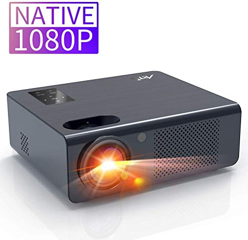 Movie Projector, Artlii Full HD 1080P Home Theater Projector, LED Projector with HiFi Stereo and Screen Zooming, Compatible with Firetv, HDMI, USB, Laptop and iPhone,for PowerPoint Presentation