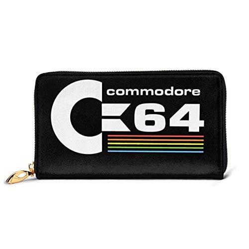 BGHYT Commodore 64 Damen Geldbörse mit doppeltem Reißverschluss