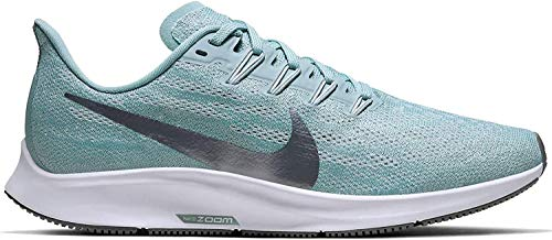 Nike Air Zoom Pegasus 36 Women's Running Shoe Ocean Cube/MTLC Cool Grey-Pure Platinum Size 7.0