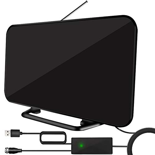 2020 Newest TV Antenna,Indoor TV Antenna for Digital TV 150 Miles Range with 19.6ft Long Coax Cable,Support All Television for Free Local Channels 4K HD 1080P VHF UHF with Built-in Amplifier