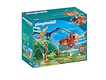 PLAYMOBIL Dinos Helikopter mit Flugsaurier