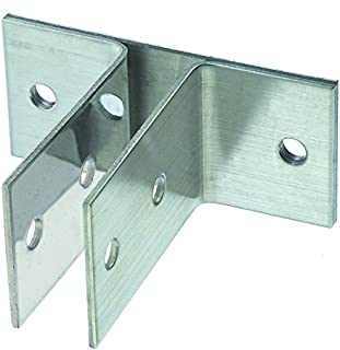 Harris Hardware 11289 Two Ear Stamped Stainless Steel Urinal Bracket 1-Inch Panel Thickness 3-3/4-Inch Bracket Height 3-3/4-Inch Base Length 1-1/2-Inch Base Width,