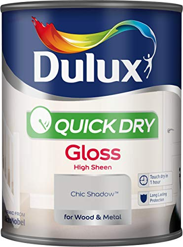 Dulux Quick Dry Gloss Paint For Wood And Metal - Chic Shadow 750Ml