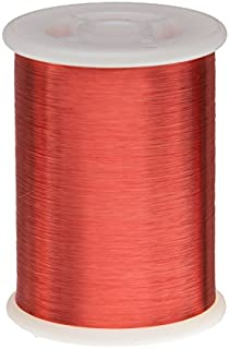 """Remington Industries 43SNSPR 43 AWG Magnet Wire, Enameled Copper Wire, 1.0 lb, 0.0024"""" Diameter, 66092` Length, Red"""