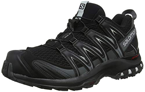 Salomon XA Pro 3D, Zapatillas de Trail Running para Hombre, Negro (Black/Magnet/Quiet Shade), 43 1/3 EU