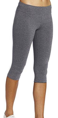 Legging Court Femme Sports Pantalons 3/4 Elastique,Taille M,Couleur Gris