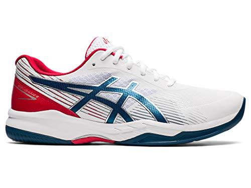 ASICS Men's Gel-Game 8 Tennis Shoes, 6M, White/MAKO Blue