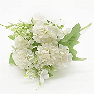 Fake Flower 5 Forks 9 Heads Artificial Lilac Bouquet Christmas Decorations for Home Silk Flowers Autumn Decoration Wedding Holiday Supplies Artificial Roses Flower