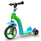 2 in 1 Scooter and Balance Bike, Scooter Ride on Electric Toys