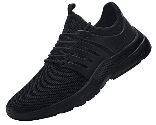 Fenlern Sicherheitsschuhe Herren Wasserdicht Arbeitsschuhe Leicht Sportlich mit Stahlkappe Atmungsaktiv Ultraleicht Sneaker (Schwarz,42.5 EU)