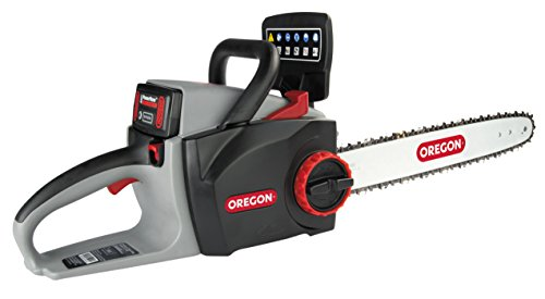 Oregon Cordless 16-inch Self-Sharpening Chainsaw with 4.0 Ah Battery and Charger