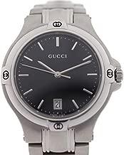 グッチ GUCCI 腕時計 YA090304 シルバー 黒文字盤 SS メンズ クォーツ メンズ [並行輸入品]
