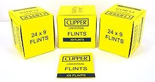 Genuine Clipper Flints - Full Box - 216 Flints - Works in All Flint Lighter by Clipper