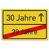 Gentle North 30 Geburtstag Schild für Frauen & Männer - Deko Geschenke Schild zum 30 Geburtstag - 30x20 cm Kunststoff (Ortsschild)