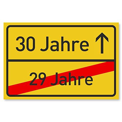 Gentle North 30 Geburtstag Schild für Frauen und Männer - Deko Geschenke Schild zum 30 Geburtstag - 30x20 cm Kunststoff (Ortsschild)